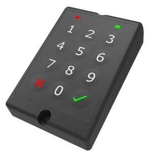 waterproof keypad immobiliser for plant vehicles